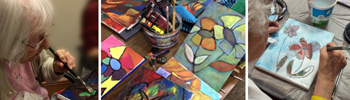 Young at heART painting and creativity classes for Assisted living